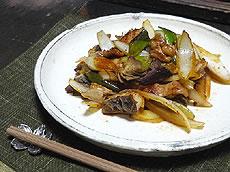 津山名物 ホルモン炒め おいしくできました