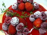 バースデイケーキの一例「バニラのムース」