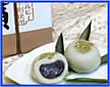 紅そば饅頭+そば茶セット