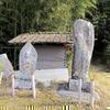 広野小周辺 街道べりに安置の六部の碑