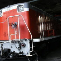 津山扇形機関車庫(機関庫)とDE50-1に萌える