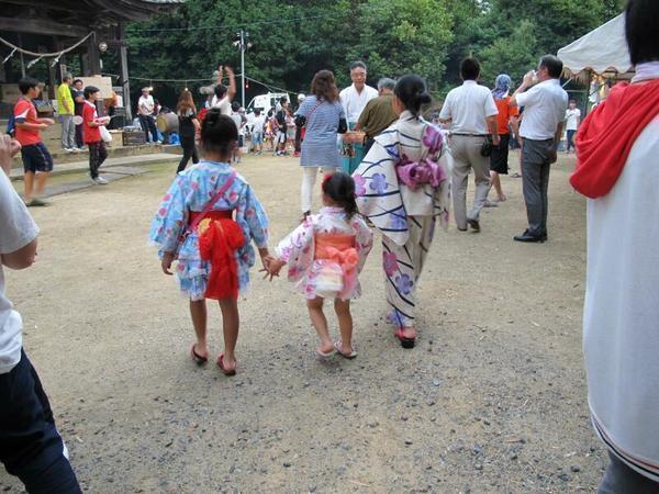白加美神社恒例の夏祭り(小田中)