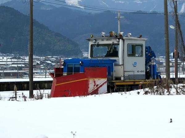 美作加茂駅で見かけた除雪列車 MC-4640