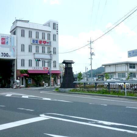津山駅周辺の10年前の様子です。