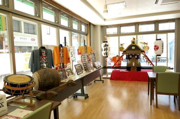 元魚町「お祭り麒麟館」の展示風景