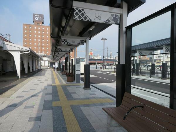 2017年8月 新しくなった津山駅北口