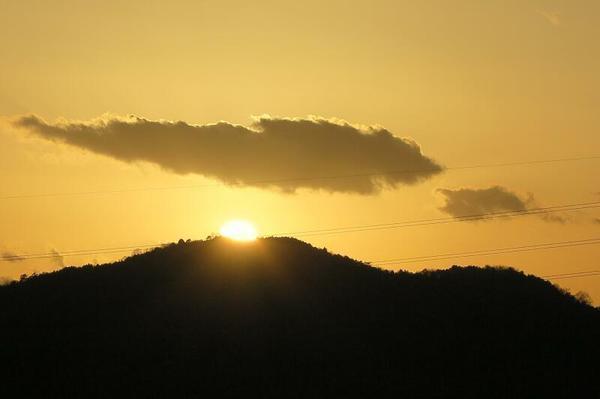 嵯峨山の夕日
