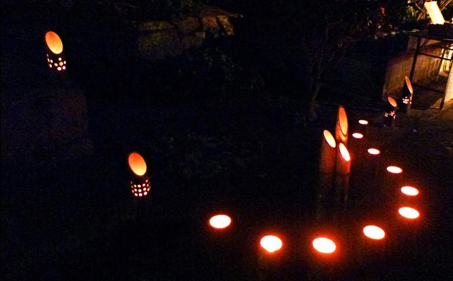 城東地区で竹灯籠300個のイベント