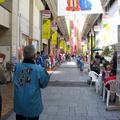 津山城下町「雛めぐり」商店街の様子