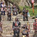 津山城(鶴山公園)さくらまつりのイベントの様子です。