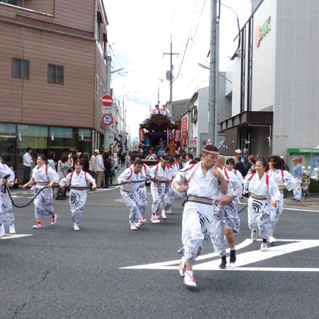 津山徳守神社秋祭りに出動しただんじり16基
