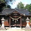 因幡往来に隣接 山王権現を祀る日吉神社