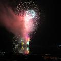 鏡野町大納涼祭(奥津湖のほとり)で5000発の花火