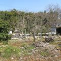 市場蟹子川沿いの堀内家墓地-大庄屋代々の墓-