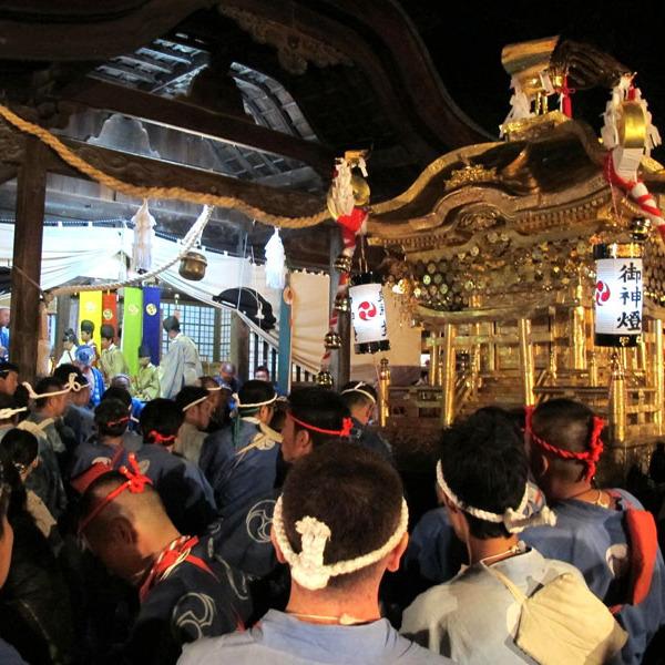 2013年10月27日、徳守神社の秋祭りの様子