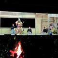 津山市田熊の回り舞台から、薪能「田村」