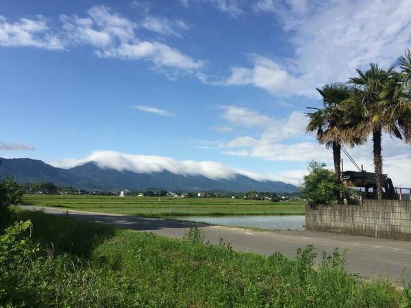 那岐連峰を覆う雲(2018年6月)