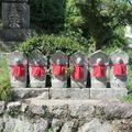 新善光寺の六体地蔵(津山市中村)